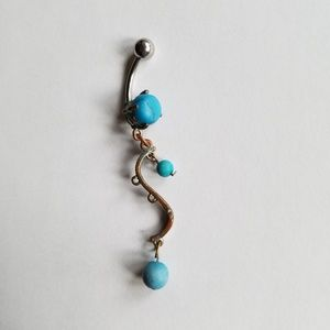 Jewelry - Turquoise stones dangle bellybutton jewelry